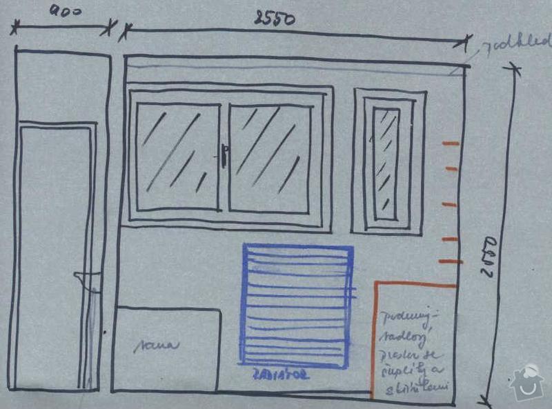 Rekonstrukce koupelny cca  5,5 m2 a WC cca 1,5 m2, v koupelně hliněné omítky: navrh_-_stena_s_oknem