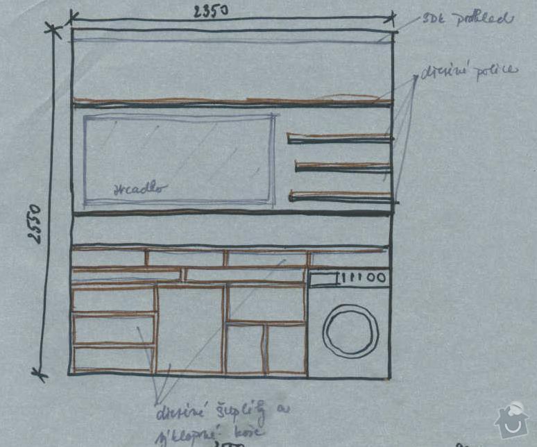Rekonstrukce koupelny cca  5,5 m2 a WC cca 1,5 m2, v koupelně hliněné omítky: navrh_-_stena_s_prackou