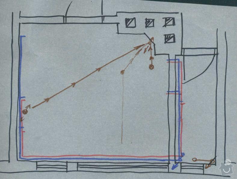 Rekonstrukce koupelny cca  5,5 m2 a WC cca 1,5 m2, v koupelně hliněné omítky: navrh_-_voda