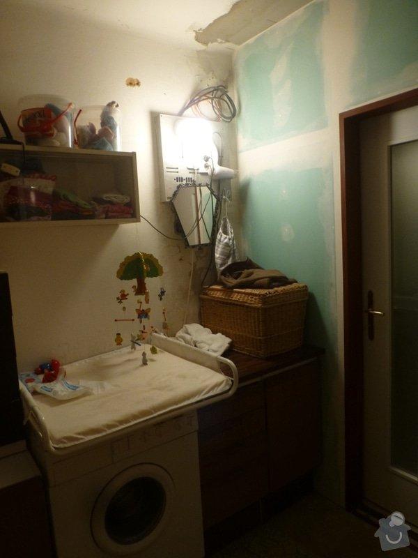 Rekonstrukce koupelny cca  5,5 m2 a WC cca 1,5 m2, v koupelně hliněné omítky: od_vany