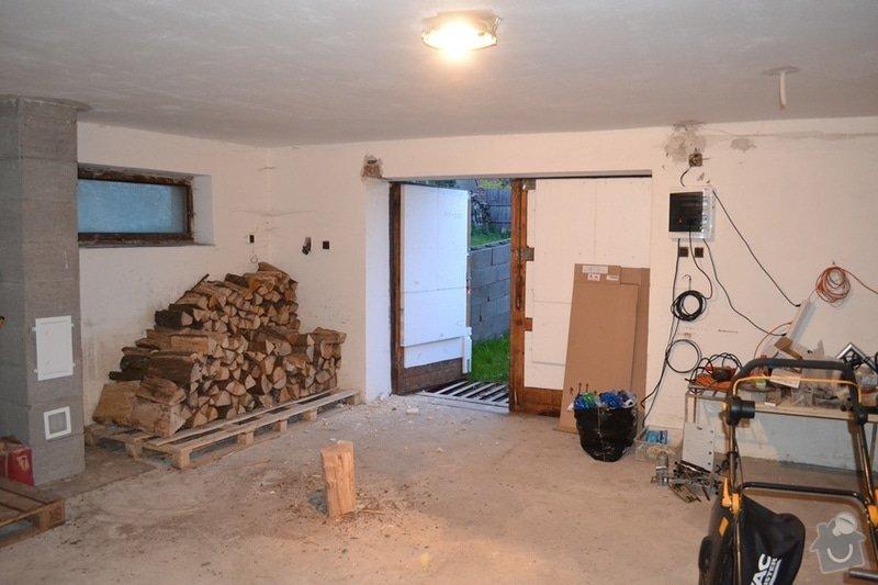 Rozšíření vjezdu garáže a nový překlad: garaz02