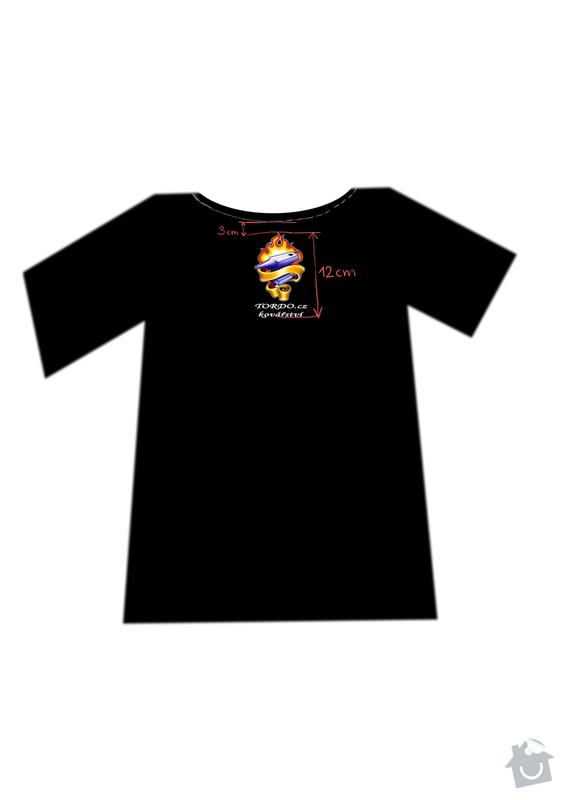 Potisk firemních triček cca 50ks: triko_predek