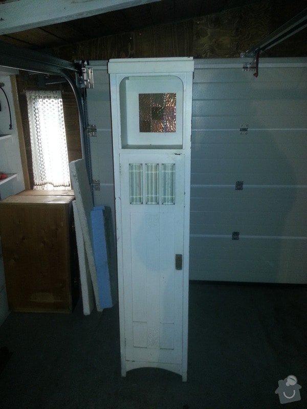 Renovace dřevěného nábytku: bila_skrinka