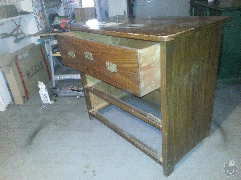 Renovace dřevěného nábytku: komoda_1