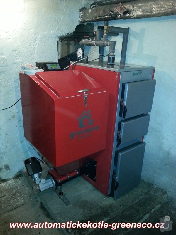 Prodej Automatický kotel Greeneco 25kW + montáž. : 20140412_184002
