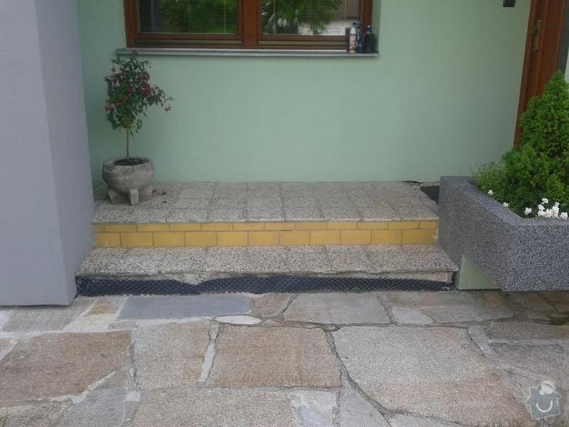 Pokladka dlazby z zulovych desek, plocha 4m2 + schod: vchod_1