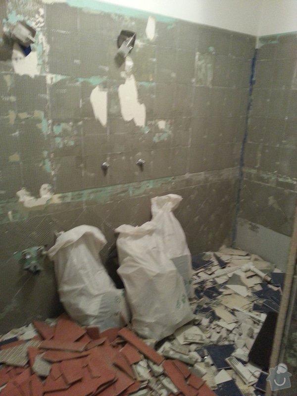 Realizace koupelny,polozeni dlazby v chodbe a kuchyni: 20130408_140745