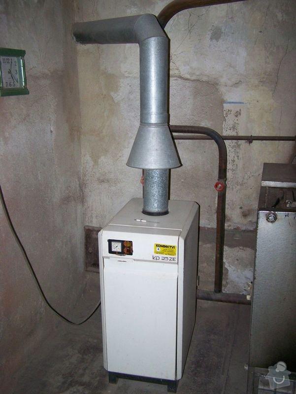 Připojení plynového kotle: 1