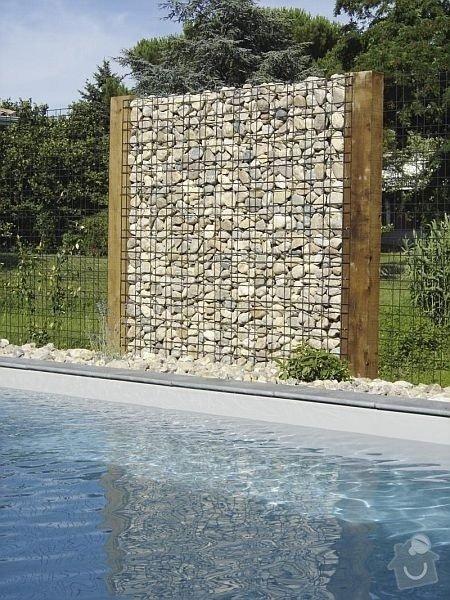 Stavba gabionové zdi a malé gabionové zídky: gabion-plot