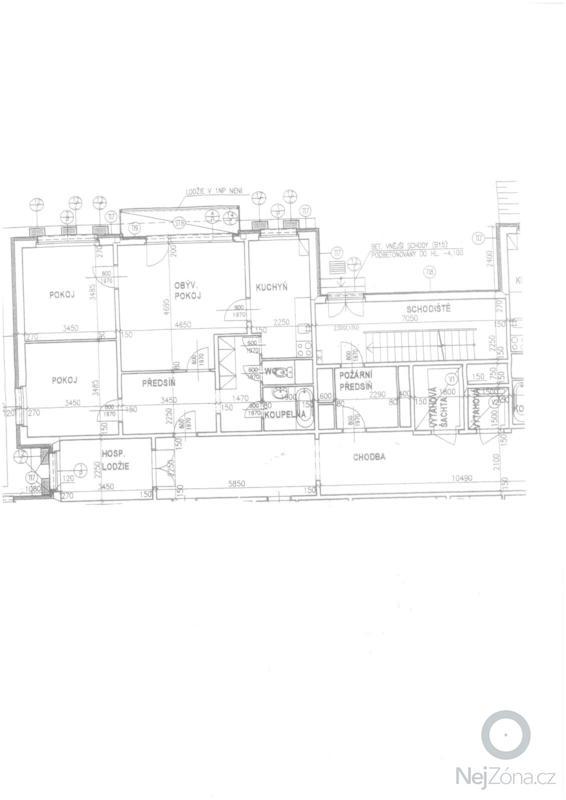 Rekonstrukce koupelny a WC: koniklecova_pudorys