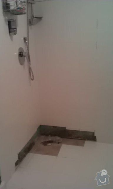 Oprava špatně přilepené dlažby v koupelně, výměna části obkladů + doobložení ve sprchovém koutě, instalace nového sprchového koutu: 2_3-_IMAG1369