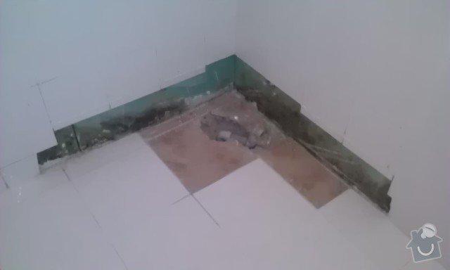 Oprava špatně přilepené dlažby v koupelně, výměna části obkladů + doobložení ve sprchovém koutě, instalace nového sprchového koutu: 2_3-_IMAG1370