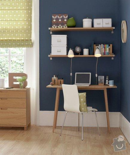 Jednoduchy pracovni stul + police: Room_ideas_-_desk