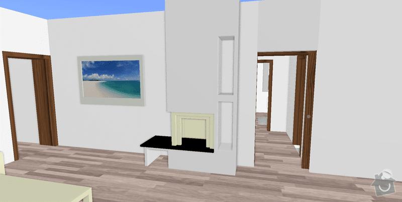 Realizace krbu v interiéru: krb_model