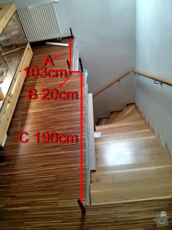 Zabradlie z dreva + 1ks dvere - interier: zabradlie-rozmer