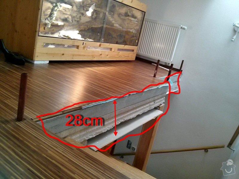 Zabradlie z dreva + 1ks dvere - interier: zabradlie-rozmer2