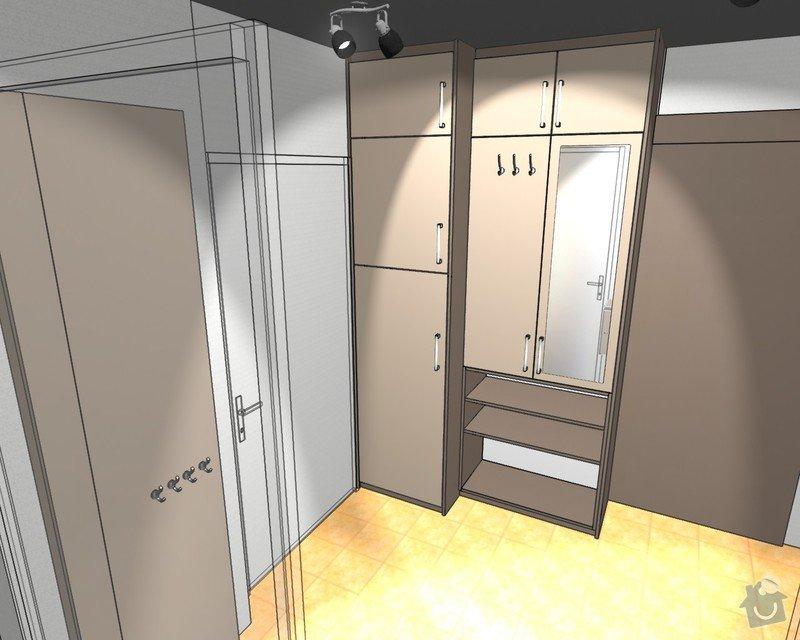 Předsíňová sestava nábytku s posuvnými dveřmi: J._Slachtova_Sestava_nabytku_do_predsine30
