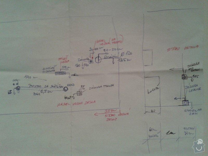 Elektronistalace a rozvod vody pro kuchyň: 3