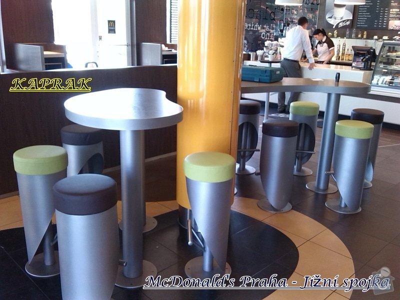 Čalounění restaurace: 282