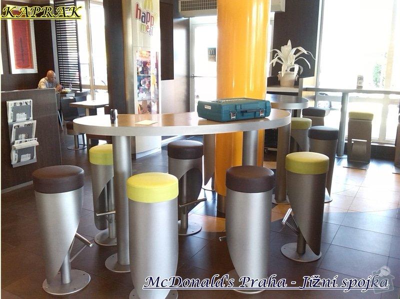 Čalounění restaurace: 284