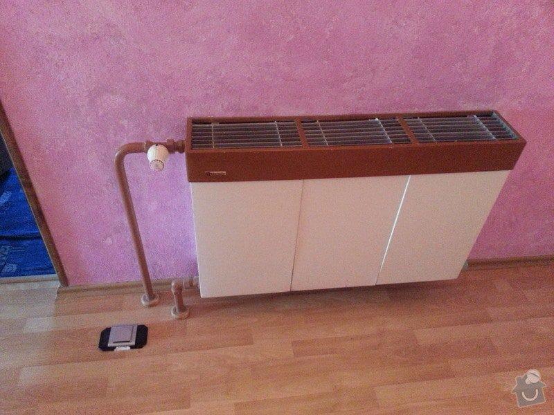 Vymena dvou radiatoru a zruseni jednech radiatoru: 20140417_104439