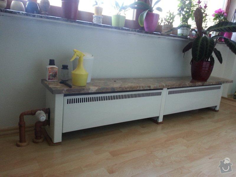 Vymena dvou radiatoru a zruseni jednech radiatoru: 20140417_104537