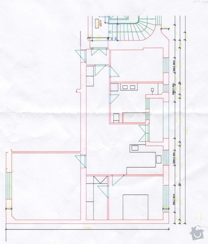 Sádrokartonové stropy 106m2: byt_navrh