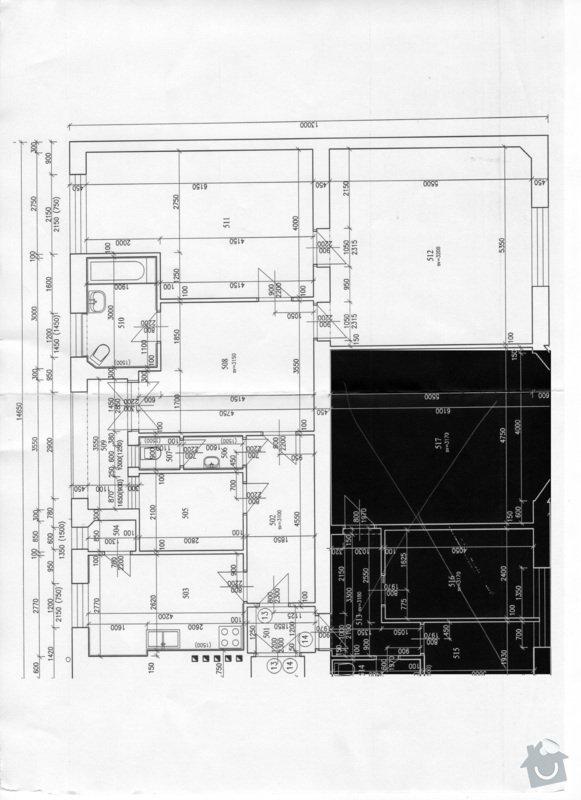 Sádrokartonové stropy 106m2: byt_soucasnost