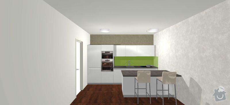Kuchyňská linka do novostavby: vizualizace