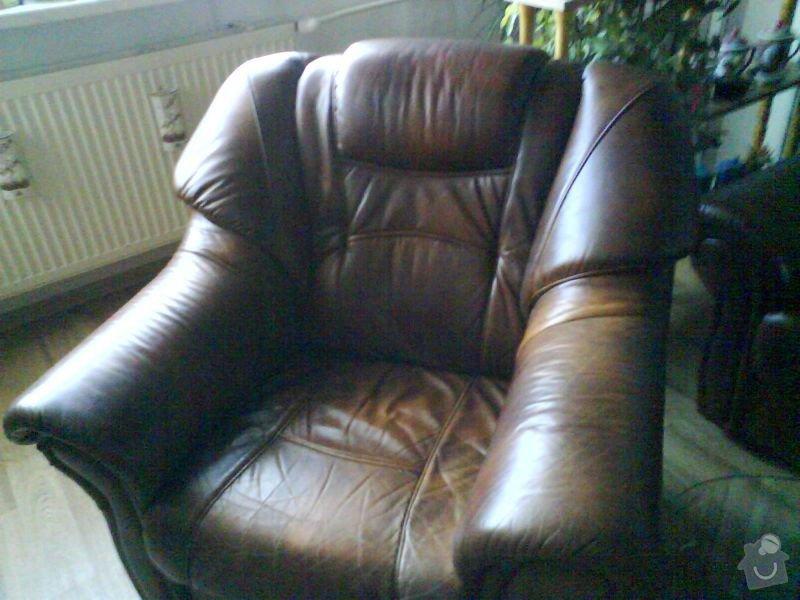 Čalouník-oprava kožené sedačky: DSC01756
