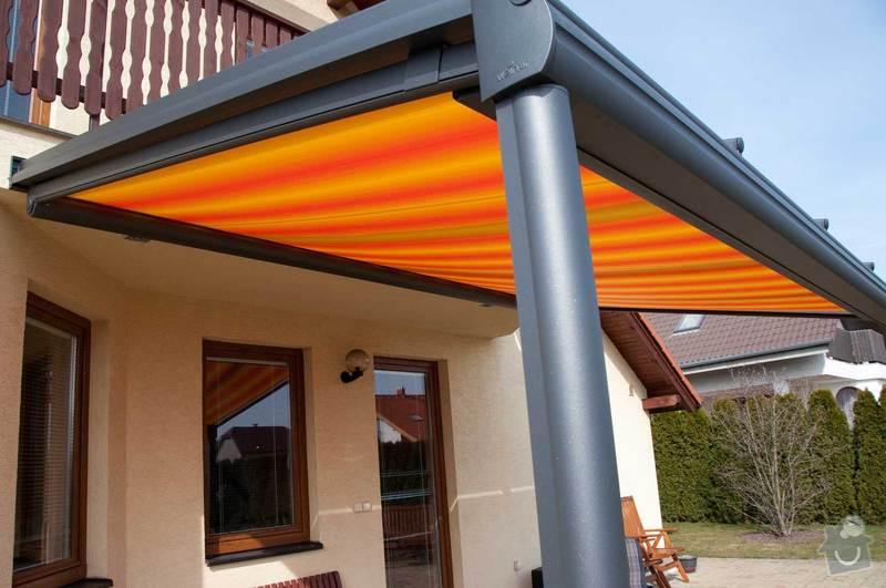 Zastřešení terasy s prosklenou střechou a markýzou: ref_8_12