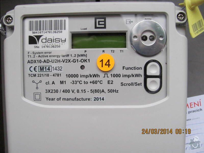 Připojení elektřiny - revizi rozvaděče: IMG_3886