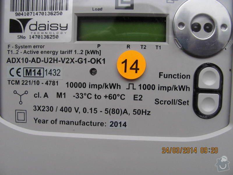 Připojení elektřiny - revizi rozvaděče: IMG_3888