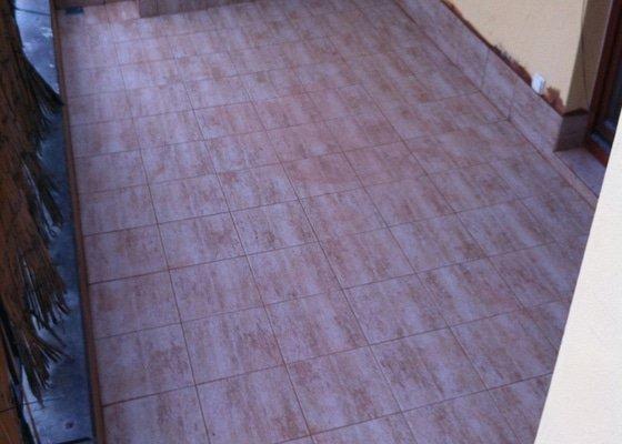 Řešení podlahové krytiny a izolace na dvou terasách