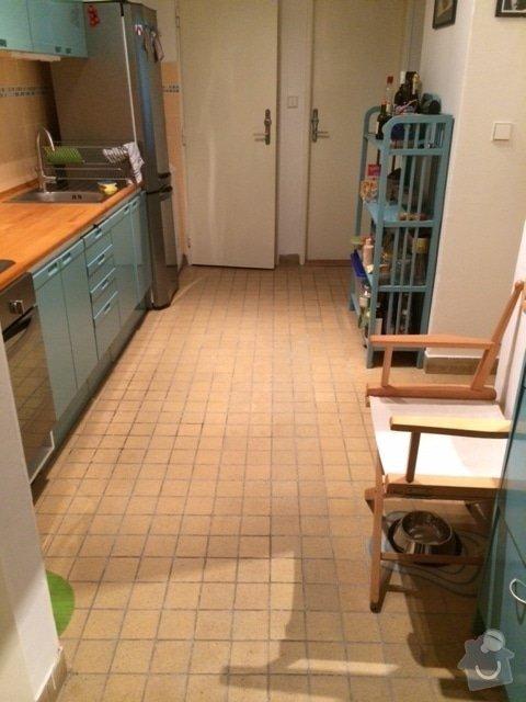 Pokladka dlazby,cca 12m2: kuchyne