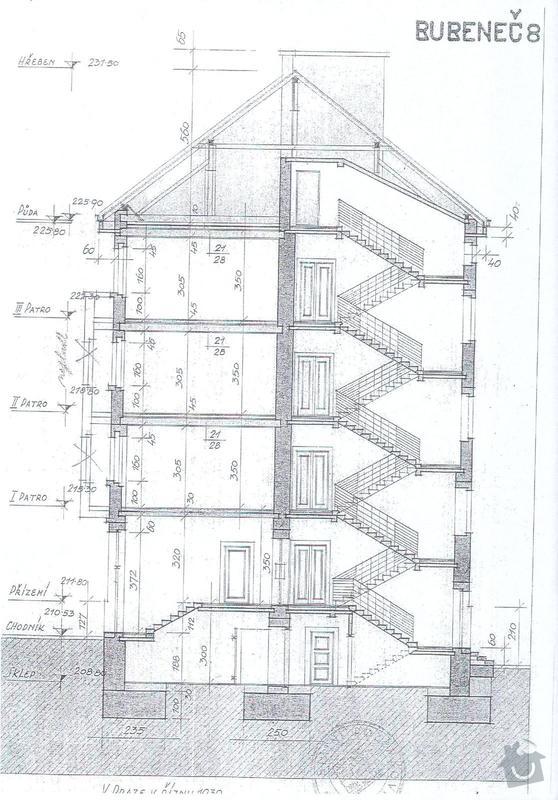Vymalba schodby BD + zatepleni 10m2: rez