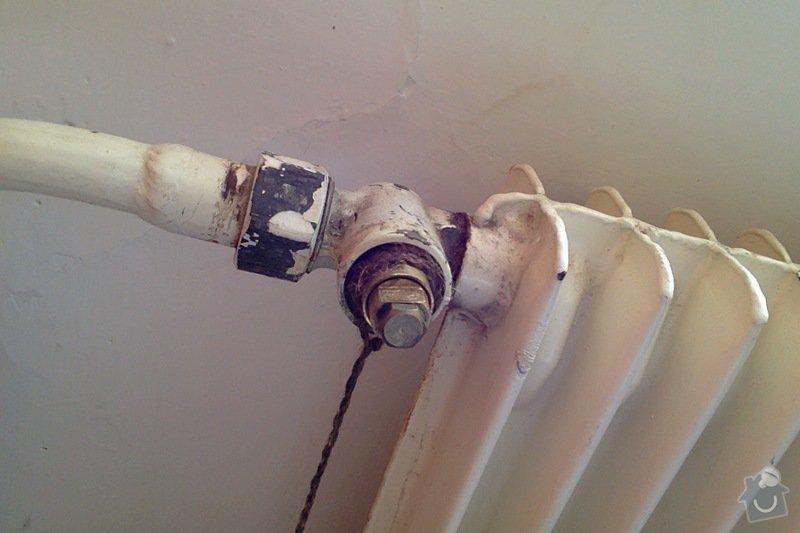 Výměna ventilů na radiátorech za termostatické: ventil1
