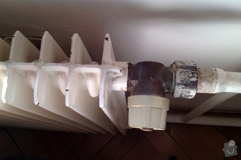 Výměna ventilů na radiátorech za termostatické: ventil3