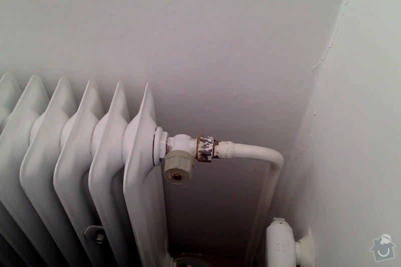 Výměna ventilů na radiátorech za termostatické: ventil4