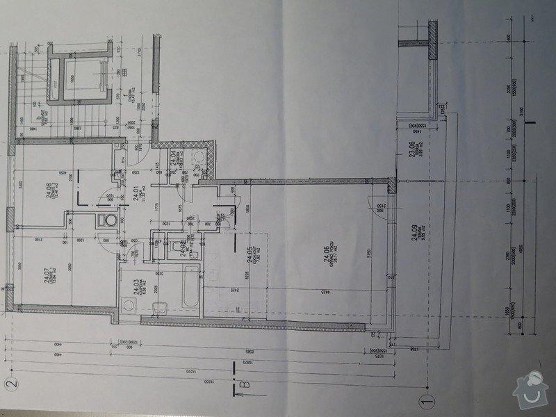 Malování bytu 3kk, Praha Stodůlky: Harmonicka_byt_plan