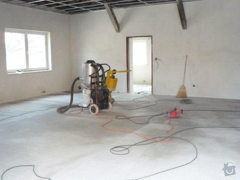 Zhotovení finální podlahy cementovým potěrem: stroje2