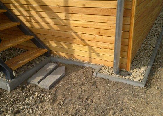 Položení podlahy na terase