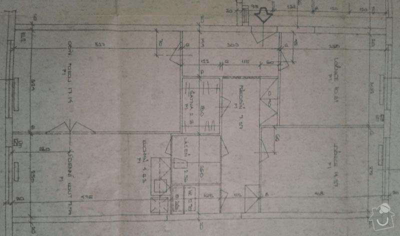 Rekonstrukce panelového bytu 3+1: BYT_pudorys