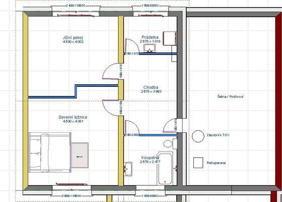 Vybavení interiéru RD - podlahy, dveře, schody