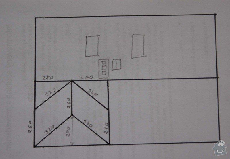 Rekonstrukce střechy: pudorys