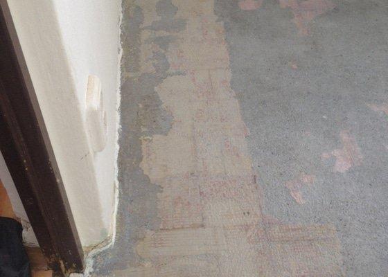 Samonivelační stěrka, pokládka plovoucí podlahy