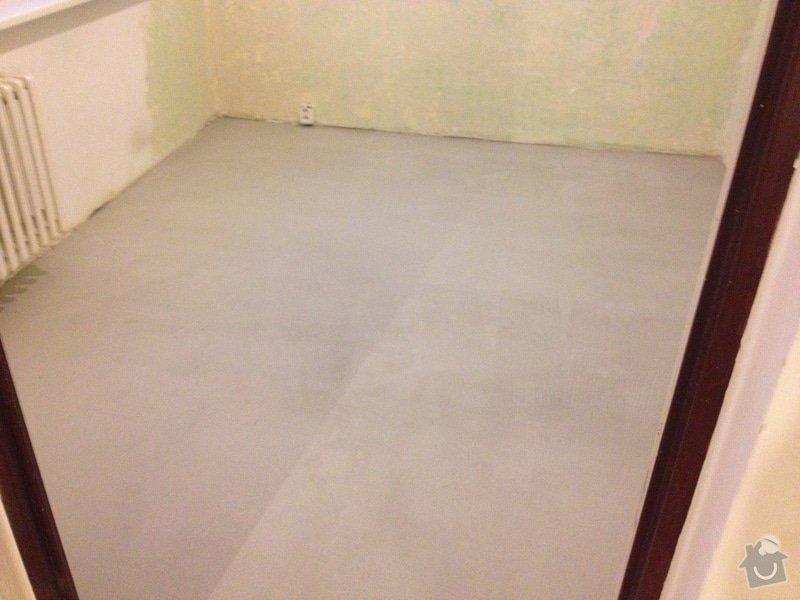 Samonivelační stěrka, pokládka plovoucí podlahy: IMG_1748