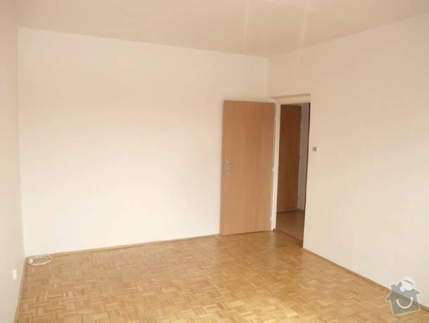 Renovace zachovalých parket 2 pokoje: pokoj-parkety