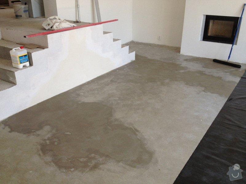 Broušení betonu, vyrovnání podlah samonivelační stěrkou, položení vinylové plovoucí podlahy: IMG_0672