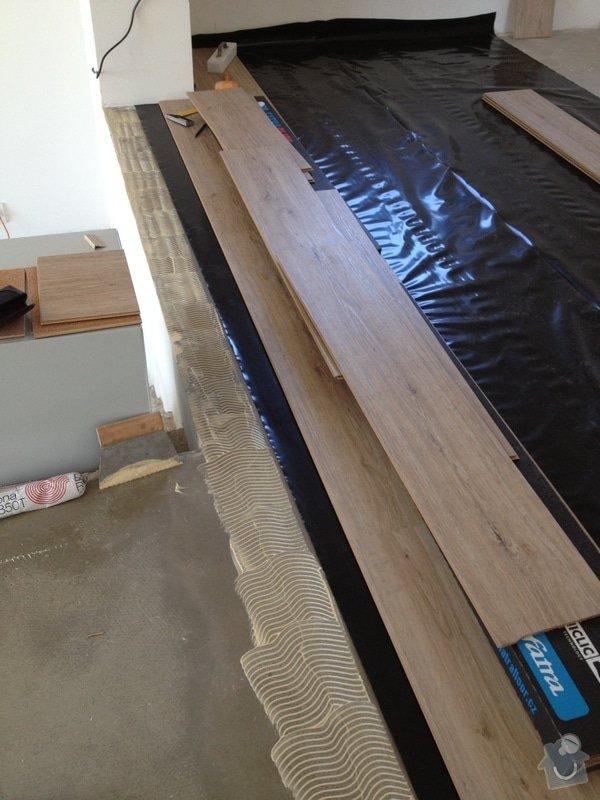 Broušení betonu, vyrovnání podlah samonivelační stěrkou, položení vinylové plovoucí podlahy: IMG_0683